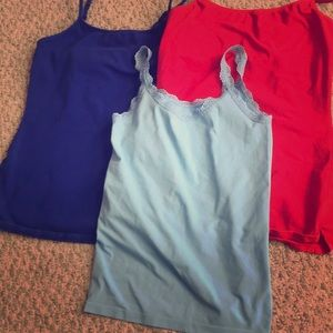 Lot 3 EUC camis royal & baby blue red the limited
